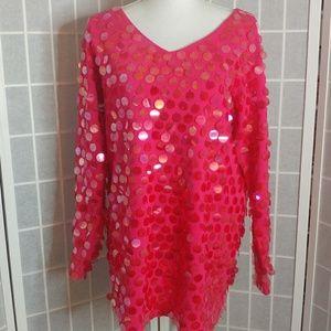 [Andrea Jovine]Vintage large sequin blouse